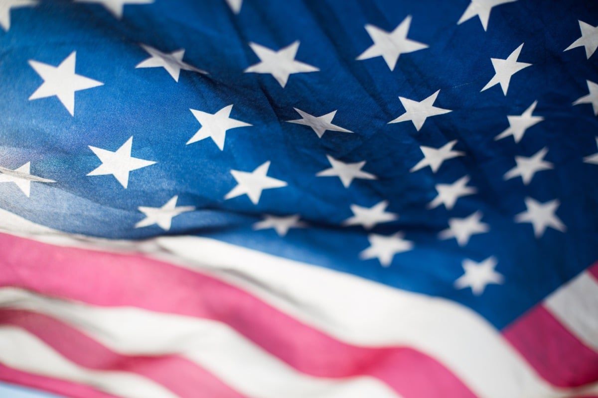 american flag, close up; veteran employment resources concept